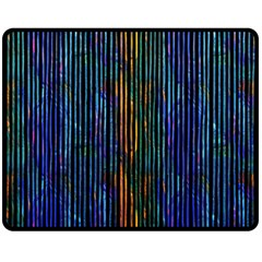 Stylish Colorful Strips Fleece Blanket (medium)  by gatterwe