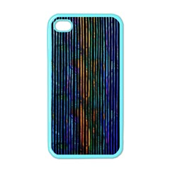Stylish Colorful Strips Apple Iphone 4 Case (color) by gatterwe