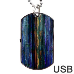 Stylish Colorful Strips Dog Tag Usb Flash (two Sides) by gatterwe