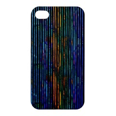 Stylish Colorful Strips Apple Iphone 4/4s Premium Hardshell Case by gatterwe