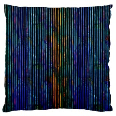 Stylish Colorful Strips Large Cushion Case (two Sides) by gatterwe