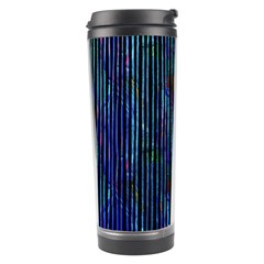 Stylish Colorful Strips Travel Tumbler by gatterwe