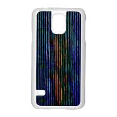 Stylish Colorful Strips Samsung Galaxy S5 Case (white) by gatterwe