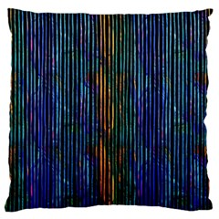 Stylish Colorful Strips Large Flano Cushion Case (two Sides) by gatterwe