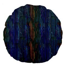 Stylish Colorful Strips Large 18  Premium Flano Round Cushions by gatterwe