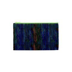 Stylish Colorful Strips Cosmetic Bag (xs) by gatterwe