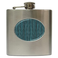 Stylish Frost Blue Strips Hip Flask (6 Oz) by gatterwe