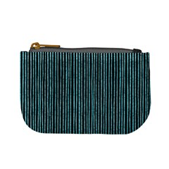 Stylish Frost Blue Strips Mini Coin Purses by gatterwe