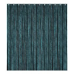 Stylish Frost Blue Strips Shower Curtain 66  X 72  (large)  by gatterwe