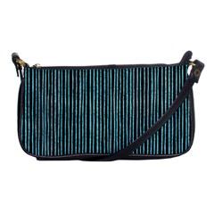 Stylish Frost Blue Strips Shoulder Clutch Bags by gatterwe