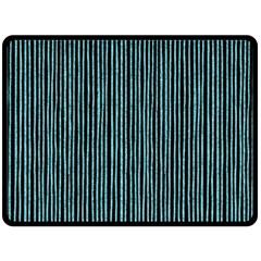 Stylish Frost Blue Strips Fleece Blanket (large)  by gatterwe