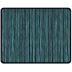 Stylish Frost Blue Strips Fleece Blanket (medium)  by gatterwe