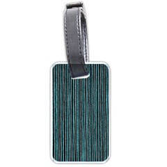Stylish Frost Blue Strips Luggage Tags (one Side)  by gatterwe