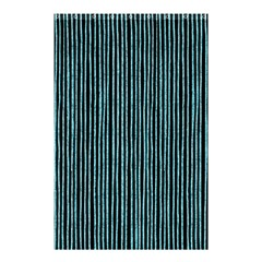 Stylish Frost Blue Strips Shower Curtain 48  X 72  (small)  by gatterwe