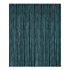 Stylish Frost Blue Strips Shower Curtain 60  X 72  (medium)  by gatterwe