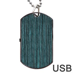 Stylish Frost Blue Strips Dog Tag Usb Flash (two Sides) by gatterwe