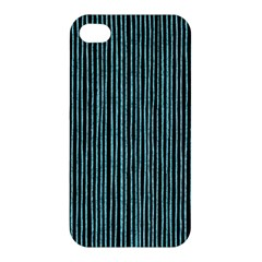 Stylish Frost Blue Strips Apple Iphone 4/4s Premium Hardshell Case by gatterwe