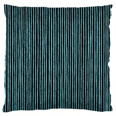 Stylish Frost Blue Strips Large Cushion Case (two Sides) by gatterwe