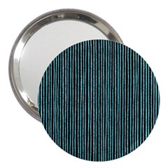 Stylish Frost Blue Strips 3  Handbag Mirrors by gatterwe