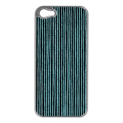 Stylish Frost Blue Strips Apple Iphone 5 Case (silver) by gatterwe