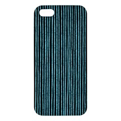 Stylish Frost Blue Strips Apple Iphone 5 Premium Hardshell Case by gatterwe