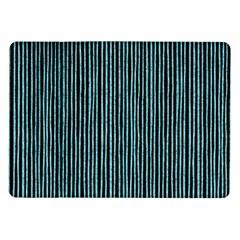 Stylish Frost Blue Strips Samsung Galaxy Tab 10 1  P7500 Flip Case by gatterwe