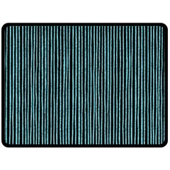 Stylish Frost Blue Strips Double Sided Fleece Blanket (large)  by gatterwe