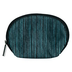 Stylish Frost Blue Strips Accessory Pouches (medium)  by gatterwe