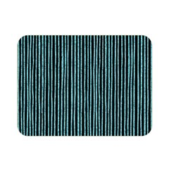 Stylish Frost Blue Strips Double Sided Flano Blanket (mini)  by gatterwe
