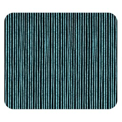 Stylish Frost Blue Strips Double Sided Flano Blanket (small)  by gatterwe