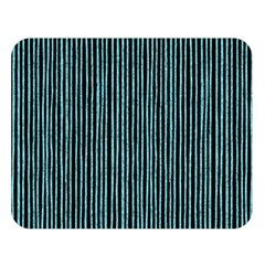 Stylish Frost Blue Strips Double Sided Flano Blanket (large)  by gatterwe