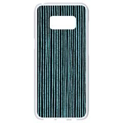 Stylish Frost Blue Strips Samsung Galaxy S8 White Seamless Case by gatterwe