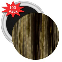 Stylish Golden Strips 3  Magnets (100 Pack) by gatterwe