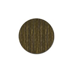 Stylish Golden Strips Golf Ball Marker by gatterwe