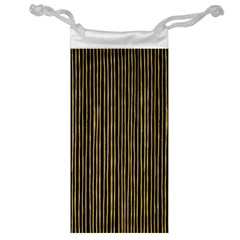 Stylish Golden Strips Jewelry Bag by gatterwe