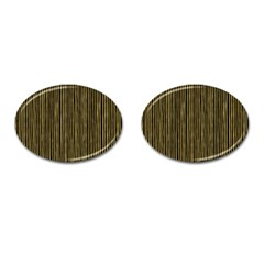 Stylish Golden Strips Cufflinks (oval) by gatterwe