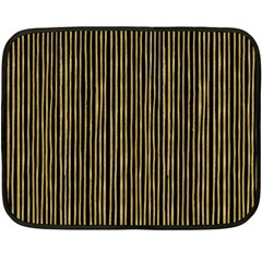 Stylish Golden Strips Double Sided Fleece Blanket (mini)  by gatterwe