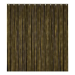 Stylish Golden Strips Shower Curtain 66  X 72  (large)  by gatterwe