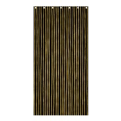 Stylish Golden Strips Shower Curtain 36  X 72  (stall)  by gatterwe