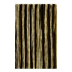Stylish Golden Strips Shower Curtain 48  X 72  (small)  by gatterwe