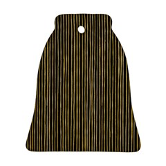 Stylish Golden Strips Bell Ornament (two Sides) by gatterwe