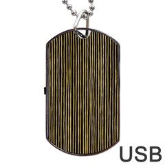 Stylish Golden Strips Dog Tag Usb Flash (two Sides) by gatterwe