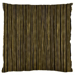 Stylish Golden Strips Large Cushion Case (two Sides) by gatterwe