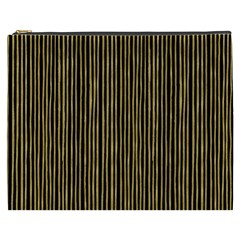 Stylish Golden Strips Cosmetic Bag (xxxl)  by gatterwe