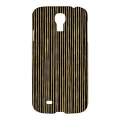 Stylish Golden Strips Samsung Galaxy S4 I9500/i9505 Hardshell Case by gatterwe