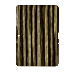 Stylish Golden Strips Samsung Galaxy Tab 2 (10 1 ) P5100 Hardshell Case  by gatterwe