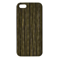 Stylish Golden Strips Iphone 5s/ Se Premium Hardshell Case by gatterwe
