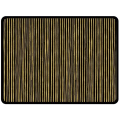 Stylish Golden Strips Double Sided Fleece Blanket (large)  by gatterwe