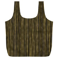 Stylish Golden Strips Full Print Recycle Bags (l)  by gatterwe