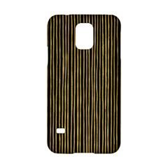Stylish Golden Strips Samsung Galaxy S5 Hardshell Case  by gatterwe